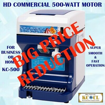 KCICL Automatic electric Ice crusher, ice shaver, slush & snow cone maker