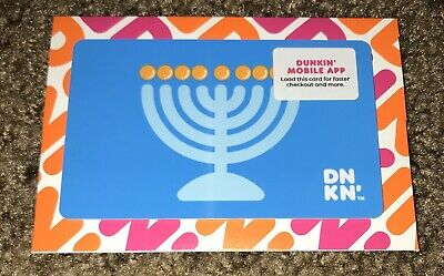 "Dunkin Donuts Coffee Gift Card ""Hanukkah"" Holiday 2019 No Value New"