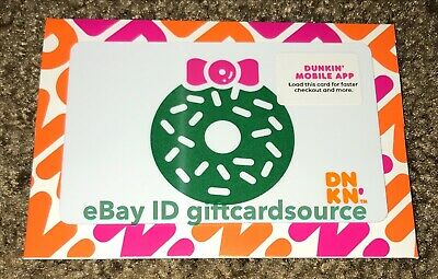 "Dunkin Donuts Coffee Gift Card ""Christmas Wreath"" Holiday 2019 No Value New"