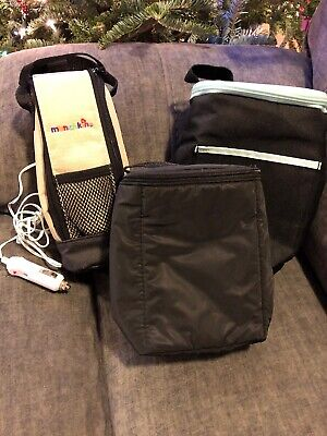 LOT OF 3 Baby Bottle Bags WARMER & COOLER *MUNCHKIN w/ Car Charger, Similac EUC