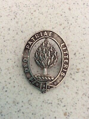 Sterling silver Scotch College badge