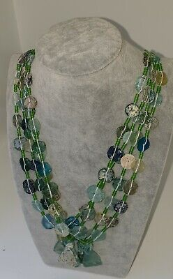 3 Ancient Roman Glass Circular Beads Necklaces Dating Back to 2000 Years Ago