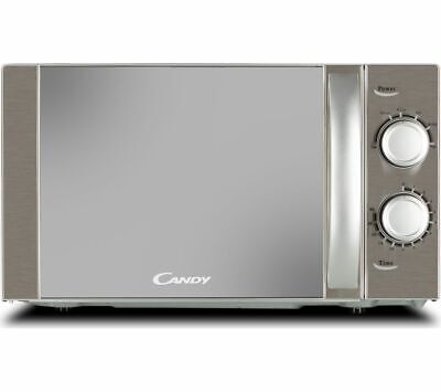 CANDY CMW20MSS-UK Compact Solo Microwave - Silver - Currys