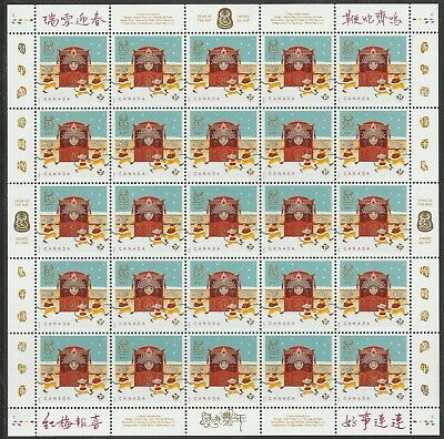 Canada Lunar New Year Rat 'P' sheet (25 stamps) MNH 2020