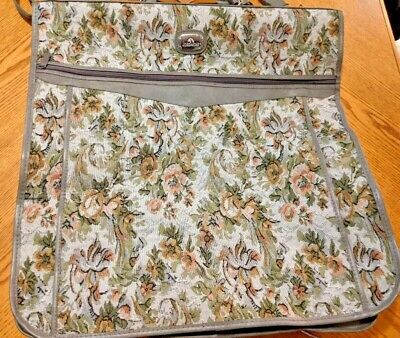 JORDACHE Garment Bag Floral Tapestry Suit Clothes Dress carry on Travel Luggage