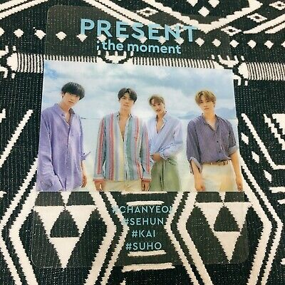 EXO PRESENT The Moment Photocard Official New ChanYeol Sehun Kai Suho Photo Book
