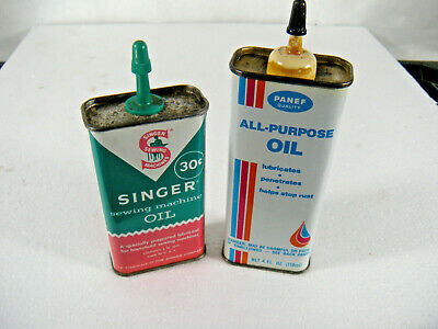 Antique Singer Sewing Machine Oil Can 4 Fl. Ozs. VINTAGE & Another