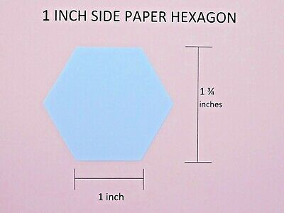 ALL SIZES 100 x DIE CUT HEXAGON PATCHWORK 160gsm PAPER TEMPLATES FOR EPP