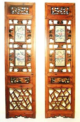 Antique Chinese Screen Panels (2815)(Pair); Cunninghamia Wood, Circa 1800-1849