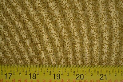 """/""""Elizabethtown/"""" B03 Gold on Brown Quilting Cotton Andover//Morton By 1//2 Yd"""
