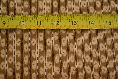 By 1//2 Yd B135 Andover//Bridgeport//Morton//5601 N Tan /& Rust on Brown Quilting