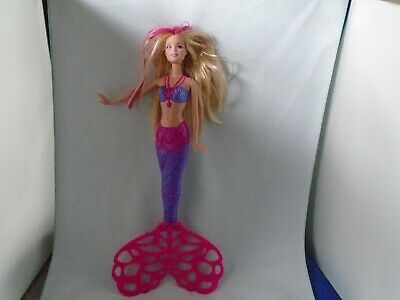 Mattel Barbie 2014 Mermaid Bubbletastic Doll W/Spinning Tail