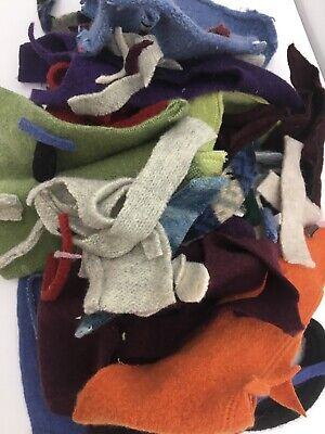 1 Pound Felted Wool Sweater Scraps Cuttings Pieces Crafts Cutters Applique 20-1