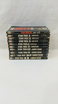 Lot 09 Star Trek Books by James Blish #3- #11 vintage paperbacks
