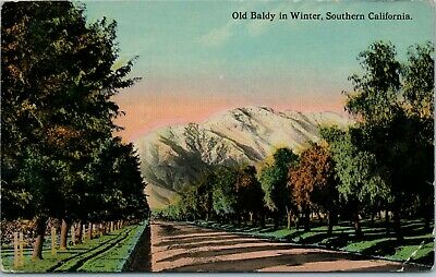 Postcard Southern California Old Baldy in Winter Message Dated 1913 Posted