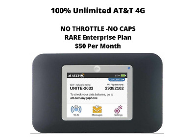 AT&T UNLIMITED DATA 4G LTE Unite 770S + 5 Days FREE Trial + LIFETIME Warranty