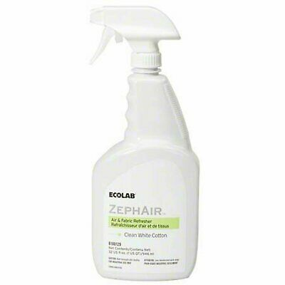 Ecolab 00129 ZephAir Clean White Cotton Air Freshener, Commercial-Grade Room ...