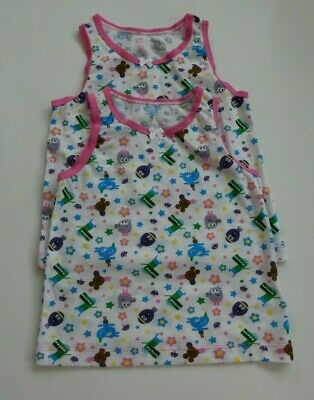 2  Girl`s HEY DUGGEE Animal Friends Novelty Vests Age 18/24, 2/3, 3/4
