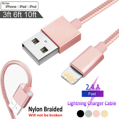 Usb Cable Cargador Cable datos para iPhone 5 5s 6 6s 7 8 11 Plus X XS MAX 1/2/3M