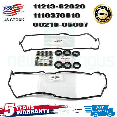 NEW GENUINE TOYOTA VALVE COVER WASHERS GASKETS /& SPARK PLUG TUBE SEALS 5VZFE