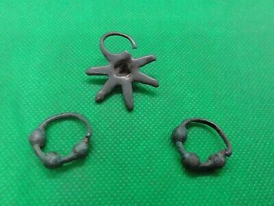 Ancient Saxon and Viking earrings,eardrop,colt  9-12 century AD