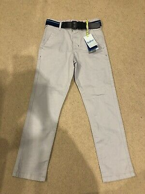 Genuine Ted Baker Boys Light Grey Belted Chino For 9 Years