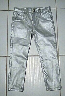River Island 3 - 4 Year Old Girls Silver Jeans/Trousers