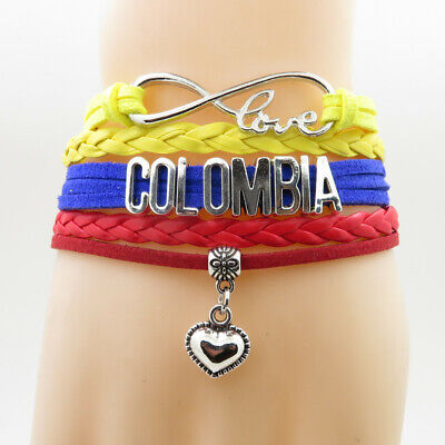 Colombia Country bracelet love my country  charm Adjustable New
