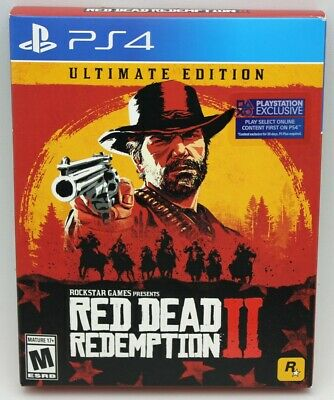 Red Dead Redemption 2 Steelbook Ultimate Edition Playstation PS4 Factory Sealed