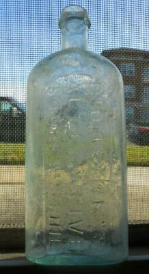 Aqua Open Pontil Dr Jayne's Alterative Chestnut St. Philadelphia Medicine Bottle