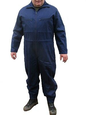 New German navy blue overalls army boiler suit coverall overall military zips