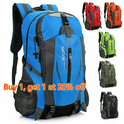 Waterproof Outdoor Sport Hiking Camping Travel Backpack Daypack Rucksack Bag~