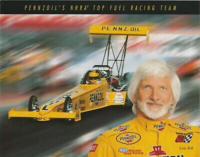 1996 Eddie Hill Penzoil NHRA Top Fuel Dragster Handout Photo Hero Card