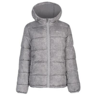 Lee Cooper Unisex Padded Grey Mix Hooded Jacket / Coat - For Age 12 Years