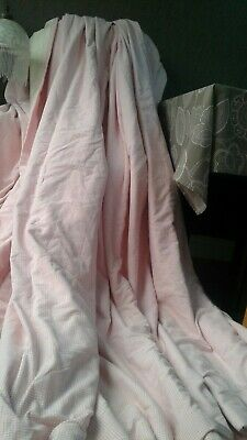 """MTM Made to Measure Gingham brushed cotton Curtains D87""""x 102"""" W each interlined"""
