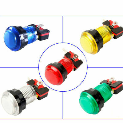 LED Round Arcade Push Button Start Button Switch LED Video Game Light Lamp
