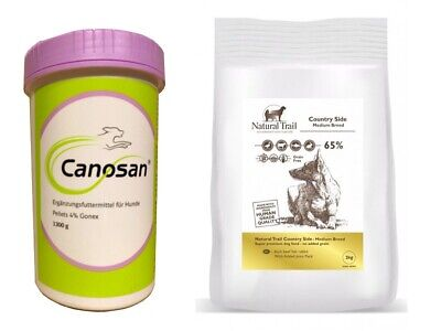 1,3kg  Canosan 4% Pellets + 2kg Natural Trail Country Side Medium Breed