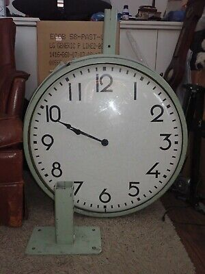 Vintage Massive Land Rover Factory Clock 1950-1960s Double Sided 66cm round