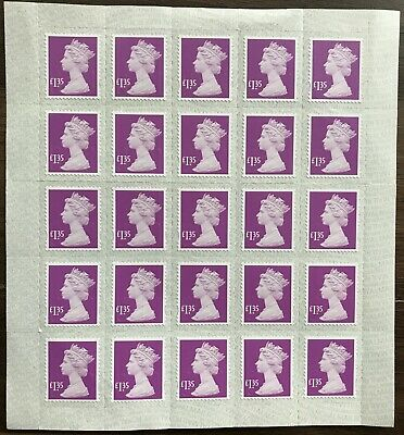 25 x £1.35 stamps GB peel & seal, mint, unused ready for postage 10% discounted