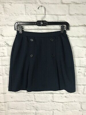 LANDS END Girls Navy Skirt Skort Size 14 School Uniform