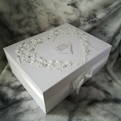PERSONALISED Wedding gift, For My Bride, Large Keepsake Memory box Mr & Mrs Gift