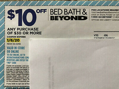 "10 x ""Bed Bath And Beyond $10 Off $30"""