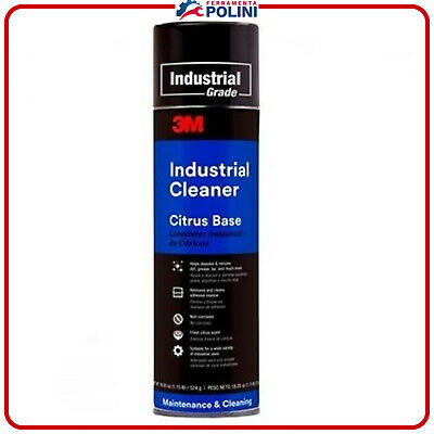 3M INDUSTRIAL CLEANER 500ml  DETERGENTE PULITORE INDUSTRIALE SPRAY ADESIVI OLIO