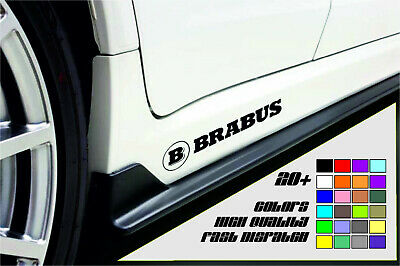 BRABUS 2x Side Skirt Car Sticker Decal Graphic High Quality Fast Dispatch