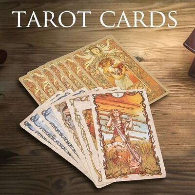 78 Tarot Mucha Tarot Cards Family Party Game Entertainment Full English Version