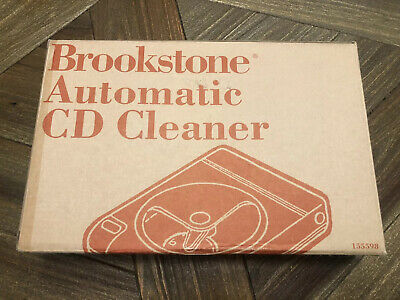 Brookstone AUTOMATIC CD CLEANER 155598 (NEW OPEN BOX)