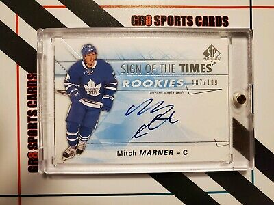 2016-17 SP Authentic Sign of the Times Rookies Autograph Mitch Marner 187/199