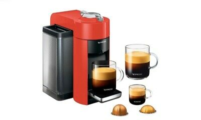 DeLonghi Nespresso Vertuo Coffee and Espresso Machine by DeLonghi - Red