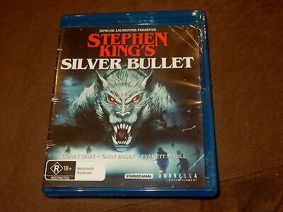 """Silver Bullet"" Stephen King Blu-Ray Mint Region B Aussie Import Rare"