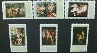 EAST GERMANY DDR 1977 Peter Paul Rubens Paintings. Set of 6. MNH. SGE1944/1949.